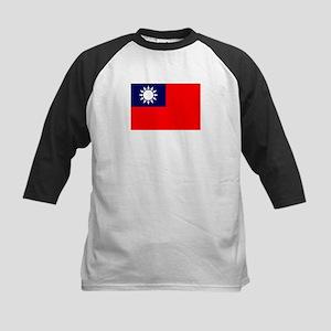 FLAG: TAIWAN 001 Kids Baseball Jersey