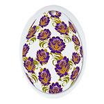 Flower Easter Egg 19B - Ornament (Oval)