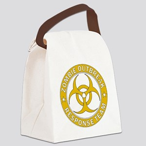 Zombie Outbreak Response Gold Tea Canvas Lunch Bag