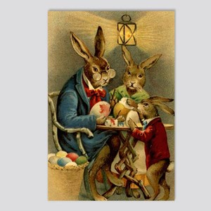 Easter rabbits painting e Postcards (Package of 8)