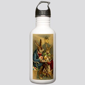 Easter rabbits paintin Stainless Water Bottle 1.0L