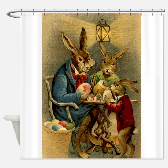 Cute Easter Shower Curtain