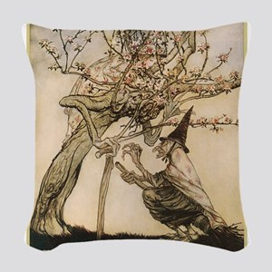 Rackham, the two sisters Woven Throw Pillow