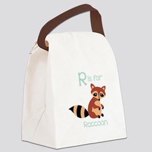 Ris for Raccoon Canvas Lunch Bag