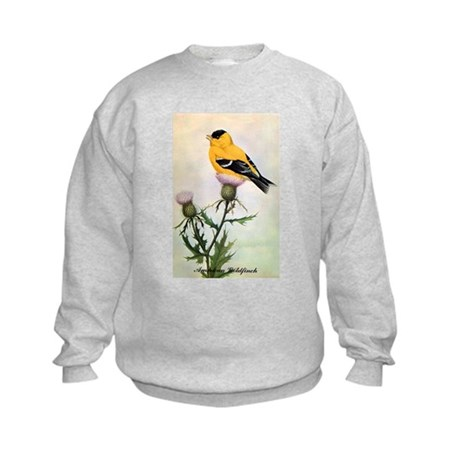 American Goldfinch Bird (Front) Kids Sweatshirt