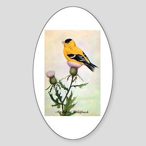 American Goldfinch Bird Oval Sticker