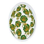 Flower Easter Egg 20B - Ornament (Oval)