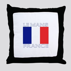 Le Mans, France Throw Pillow
