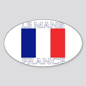 Le Mans, France Oval Sticker