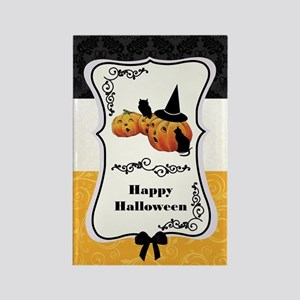 Vintage Jack O' Lanterns on Tripa Rectangle Magnet