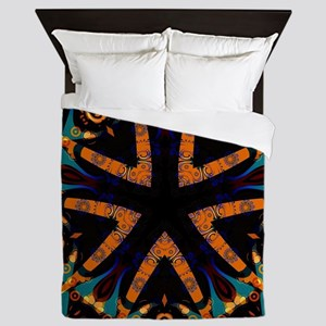Tribal Batik Geometric Queen Duvet