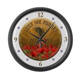 Anzacs lest we forget Wall Clocks