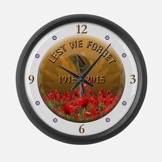 Lest We Forget Large Wall Clock