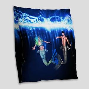 Poseidon Burlap Throw Pillow