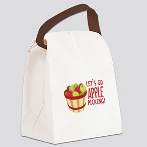 Lets Go Apple Picking! Canvas Lunch Bag
