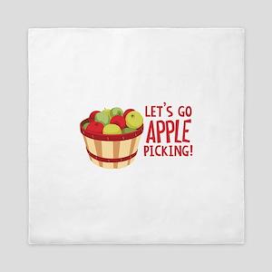 Lets Go Apple Picking! Queen Duvet