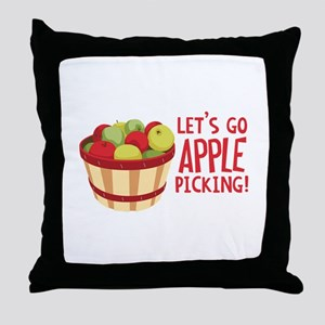 Lets Go Apple Picking! Throw Pillow