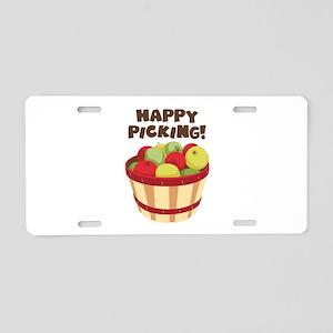 Happy Picking! Aluminum License Plate