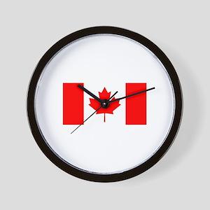 Canadian Flag Wall Clock