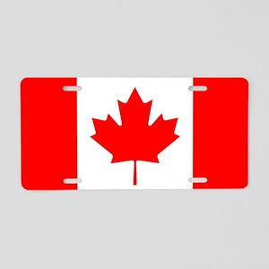 Canadian Flag Aluminum License Plate