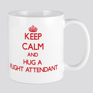 Keep Calm and Hug a Flight Attendant Mugs