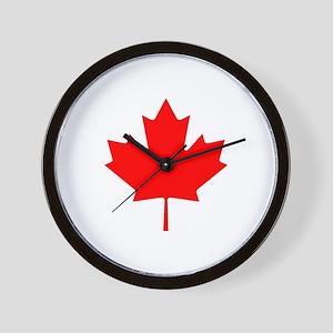 Canadian Maple Leaf Wall Clock