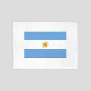 Argentinian Flag 5'x7'Area Rug