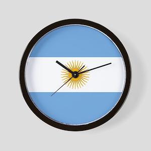 Argentinian Flag Wall Clock