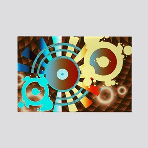 Chocolate Sounds Abstract  Rectangle Magnet