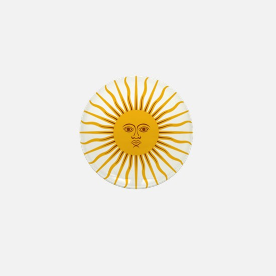 Argentinian Sun of May Mini Button