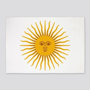 Argentinian Sun of May 5'x7'Area Rug