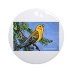 Prothonotary Warbler Bird Ornament (Round)