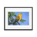 Prothonotary Warbler Bird Framed Panel Print
