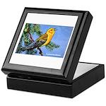Prothonotary Warbler Bird Keepsake Box