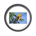 Prothonotary Warbler Bird Wall Clock