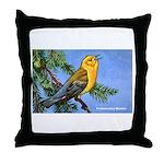 Prothonotary Warbler Bird Throw Pillow