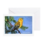 Prothonotary Warbler Bird Greeting Cards (Package