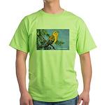 Prothonotary Warbler Bird Green T-Shirt