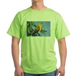 Prothonotary Warbler Bird (Front) Green T-Shirt