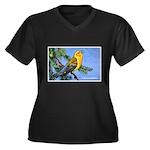Prothonotary Warbler Bird (Front) Women's Plus Siz