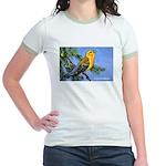 Prothonotary Warbler Bird (Front) Jr. Ringer T-Shi