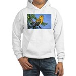 Prothonotary Warbler Bird (Front) Hooded Sweatshir