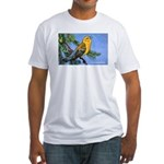 Prothonotary Warbler Bird (Front) Fitted T-Shirt