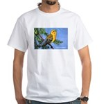 Prothonotary Warbler Bird (Front) White T-Shirt