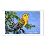 Prothonotary Warbler Bird Rectangle Sticker