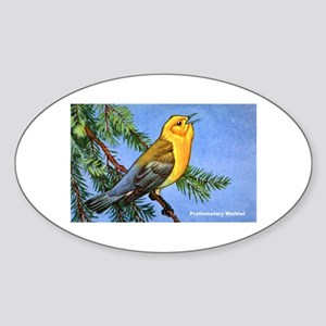 Prothonotary Warbler Bird Oval Sticker