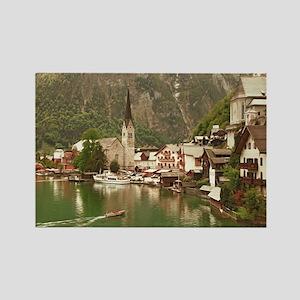 Austrian lakeside village of Hall Rectangle Magnet