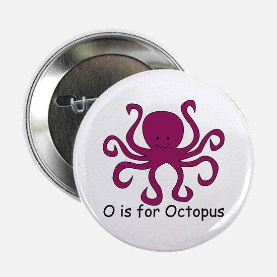 """O is for Octopus 2.25"""" Button"""