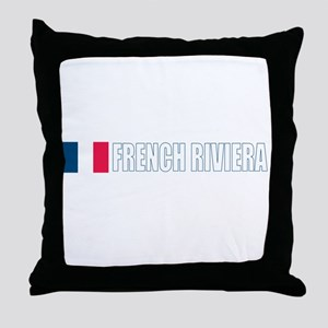 French Riviera Throw Pillow