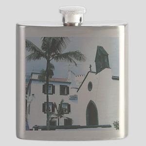White Church Funchal Portugal Flask